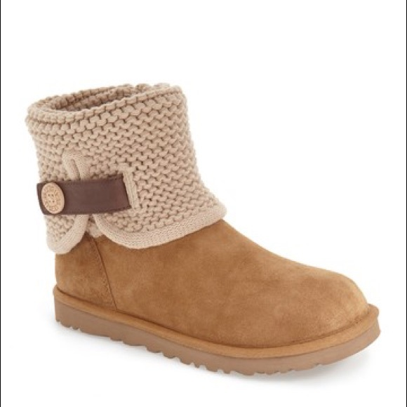 dbcccceed30 UGG Shaina Knit suede boots $170.00